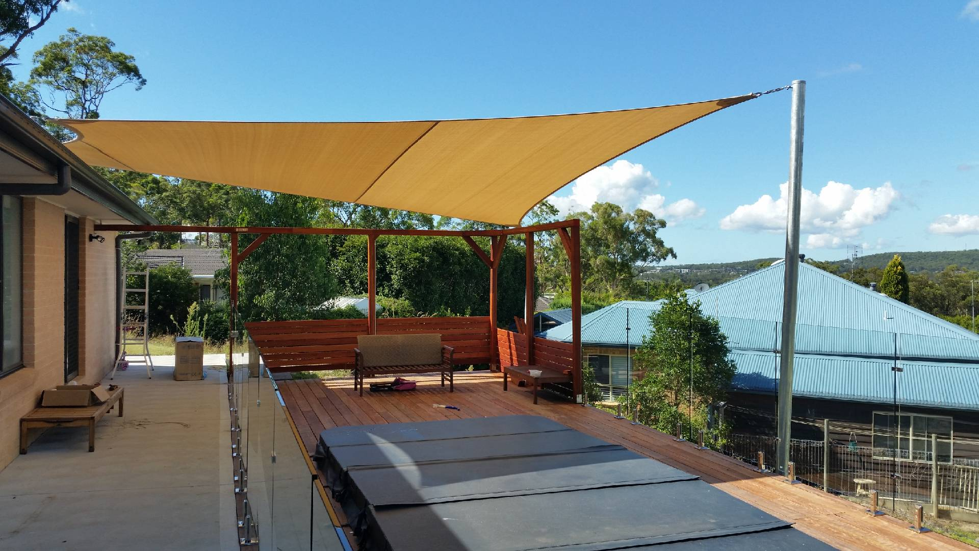 shade sail outdoor area